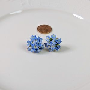 Vintage Porcelain Flower Earrings Denton England